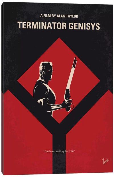 Terminator Genisys Minimal Movie Poster Canvas Art Print