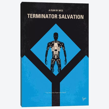 Terminator Salvation Minimal Movie Poster Canvas Print #CKG1050} by Chungkong Canvas Print