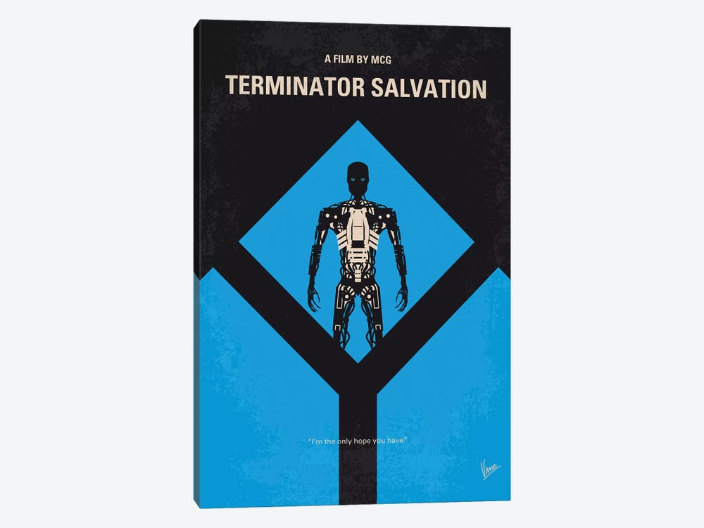 Terminator Salvation Minimal Movie Poster by Chungkong 1-piece Canvas Wall Art