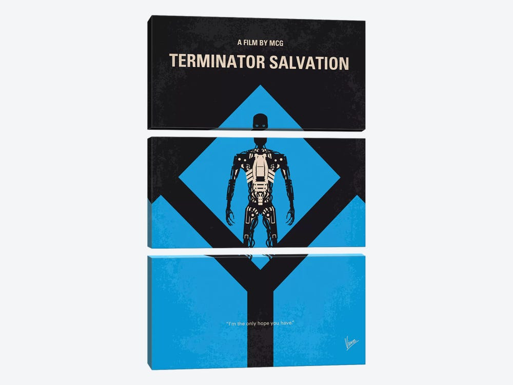 Terminator Salvation Minimal Movie Poster by Chungkong 3-piece Canvas Art