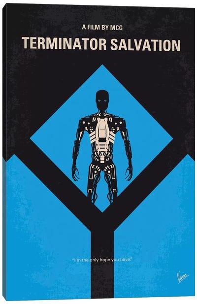 Terminator Salvation Minimal Movie Poster Canvas Art Print