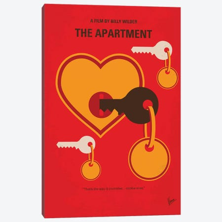The Apartment Minimal Movie Poster Canvas Print #CKG1051} by Chungkong Art Print