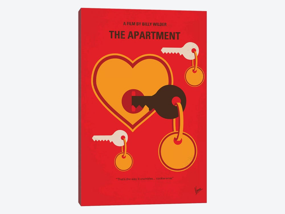 The Apartment Minimal Movie Poster by Chungkong 1-piece Canvas Art Print