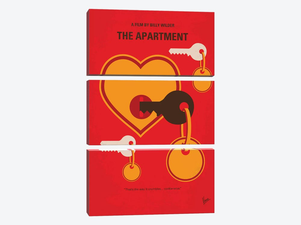 The Apartment Minimal Movie Poster by Chungkong 3-piece Canvas Print