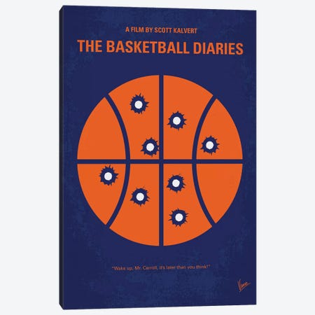 The Basketball Diaries Minimal Movie Poster Canvas Print #CKG1052} by Chungkong Art Print