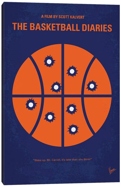 The Basketball Diaries Minimal Movie Poster Canvas Art Print