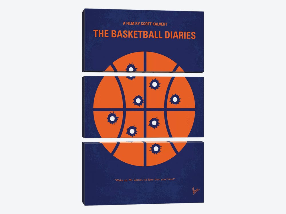 The Basketball Diaries Minimal Movie Poster by Chungkong 3-piece Canvas Art