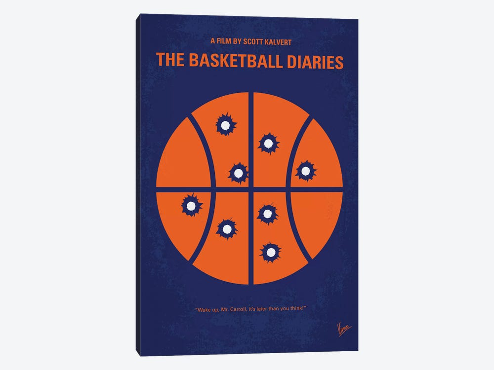 The Basketball Diaries Minimal Movie Poster by Chungkong 1-piece Canvas Artwork
