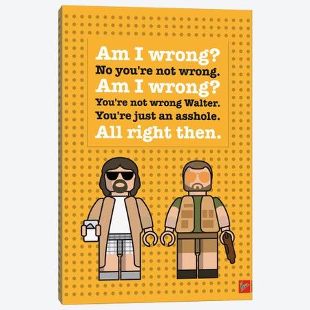 The Big Lebowski Lego Dialogue Poster Canvas Print #CKG1053} by Chungkong Canvas Art Print