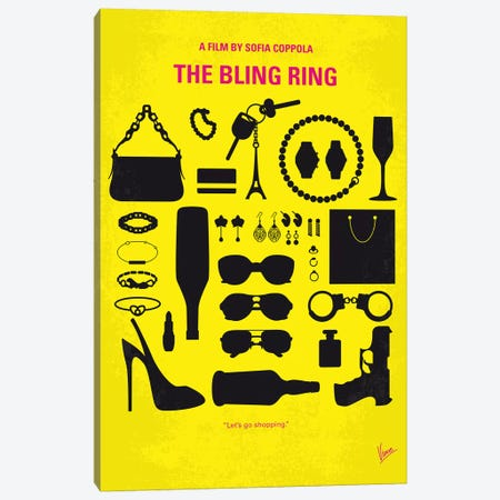 The Bling Ring Minimal Movie Poster Canvas Print #CKG1054} by Chungkong Canvas Artwork