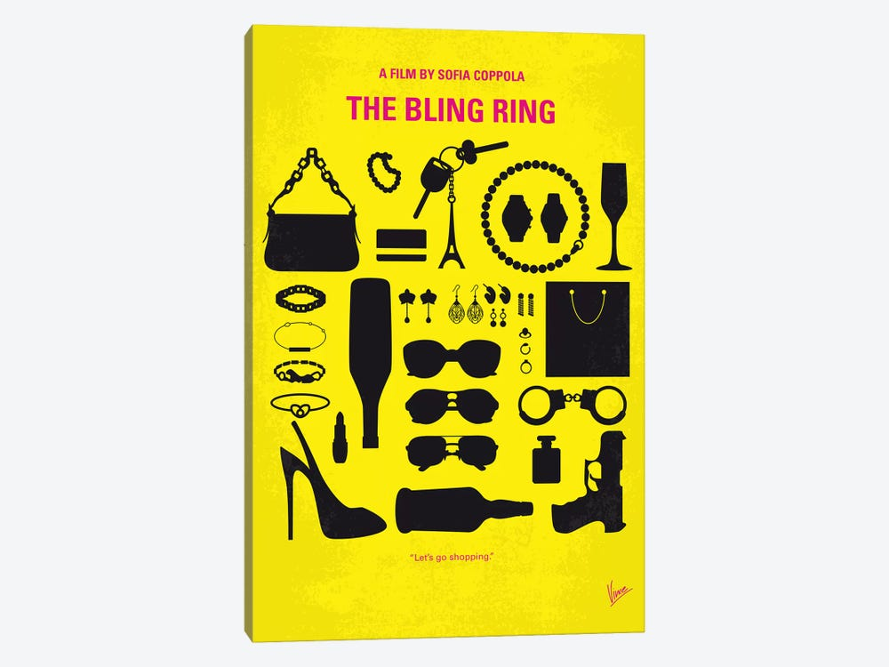 The Bling Ring Minimal Movie Poster by Chungkong 1-piece Canvas Art