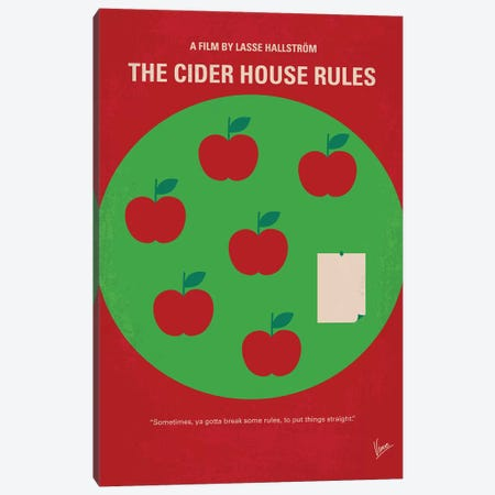 The Cider House Rules Minimal Movie Poster Canvas Print #CKG1055} by Chungkong Canvas Wall Art