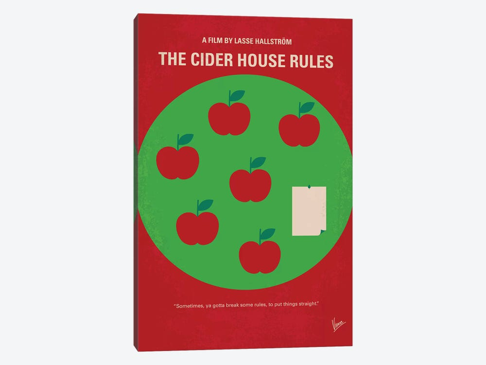 The Cider House Rules Minimal Movie Poster by Chungkong 1-piece Canvas Art Print
