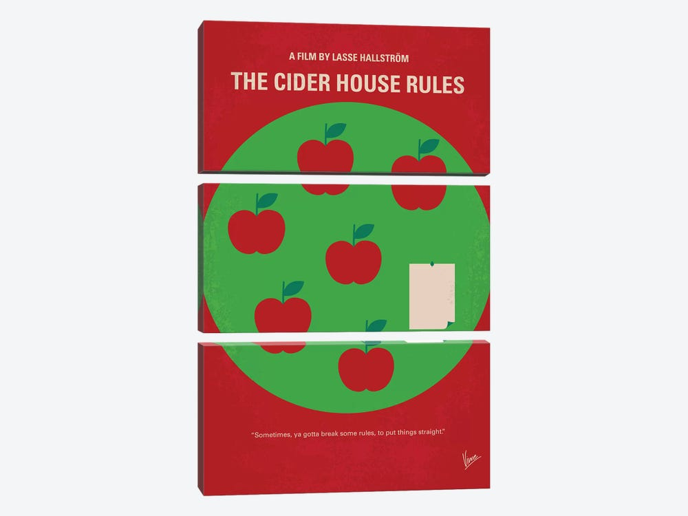 The Cider House Rules Minimal Movie Poster by Chungkong 3-piece Art Print