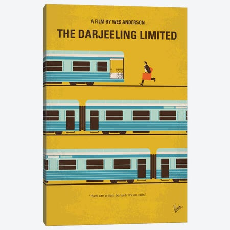 The Darjeeling Limited Minimal Movie Poster Canvas Print #CKG1056} by Chungkong Canvas Artwork