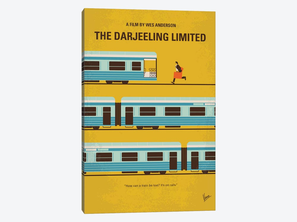 The Darjeeling Limited Minimal Movie Poster by Chungkong 1-piece Canvas Wall Art