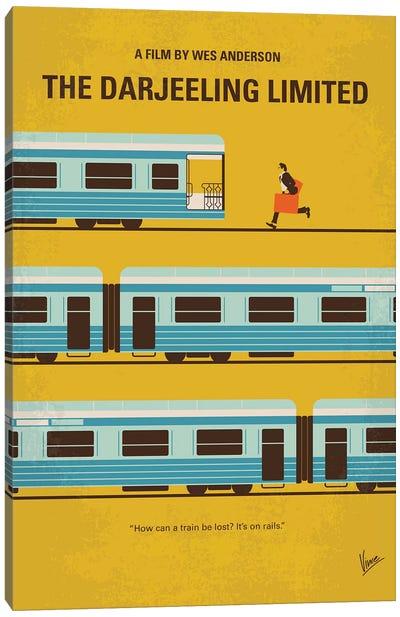 The Darjeeling Limited Minimal Movie Poster Canvas Art Print