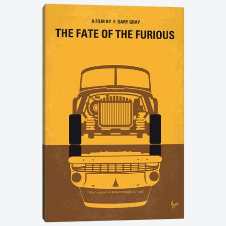 The Fate Of The Furious Minimal Movie Poster Canvas Print #CKG1058} by Chungkong Canvas Print