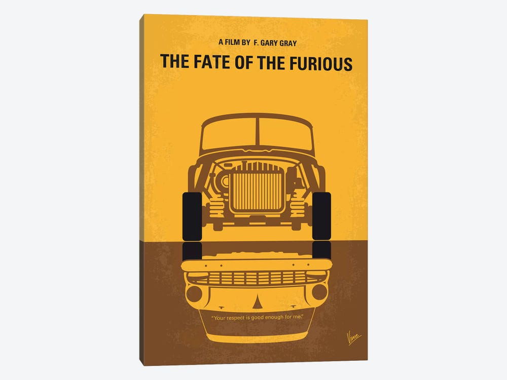 The Fate Of The Furious Minimal Movie Poster by Chungkong 1-piece Canvas Artwork