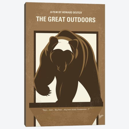 The Great Outdoors Minimal Movie Poster Canvas Print #CKG1059} by Chungkong Canvas Print