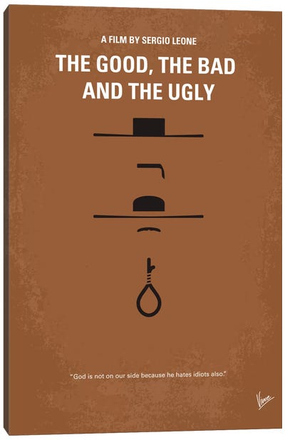 The Good The Bad The Ugly Minimal Movie Poster Canvas Print #CKG105