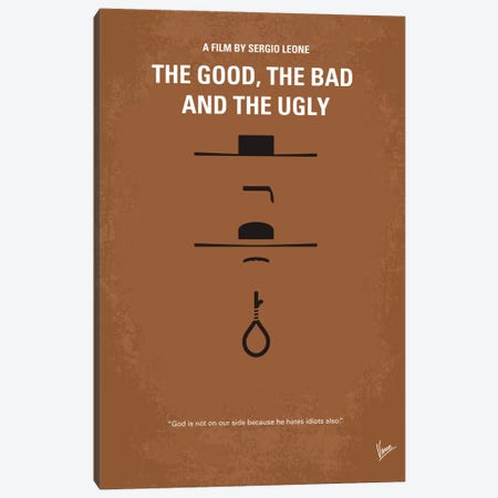 The Good The Bad The Ugly Minimal Movie Poster Canvas Print #CKG105} by Chungkong Art Print