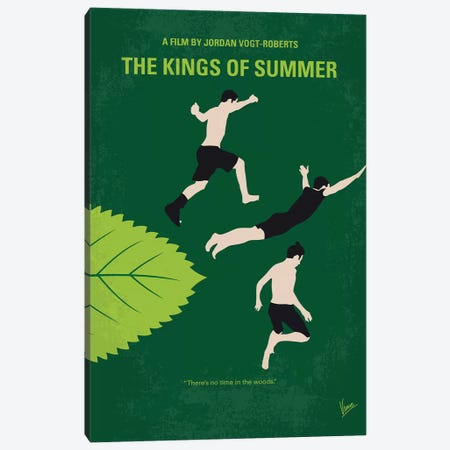 The Kings Of Summer Minimal Movie Poster Canvas Print #CKG1060} by Chungkong Canvas Wall Art