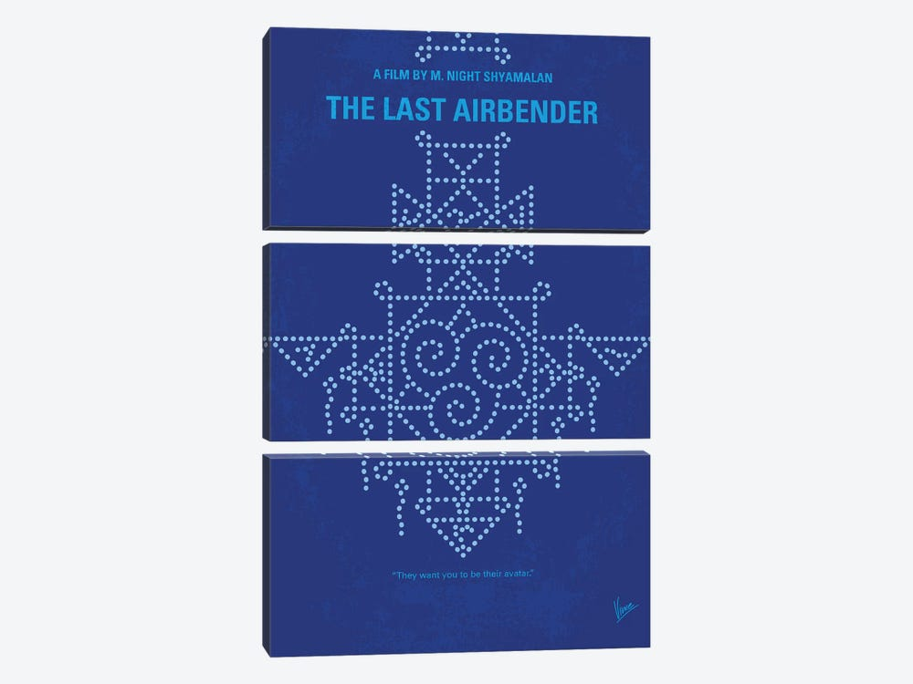 The Last Airbender Minimal Movie Poster by Chungkong 3-piece Canvas Art