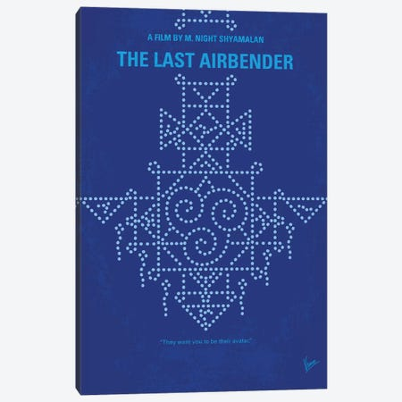 The Last Airbender Minimal Movie Poster Canvas Print #CKG1061} by Chungkong Canvas Art