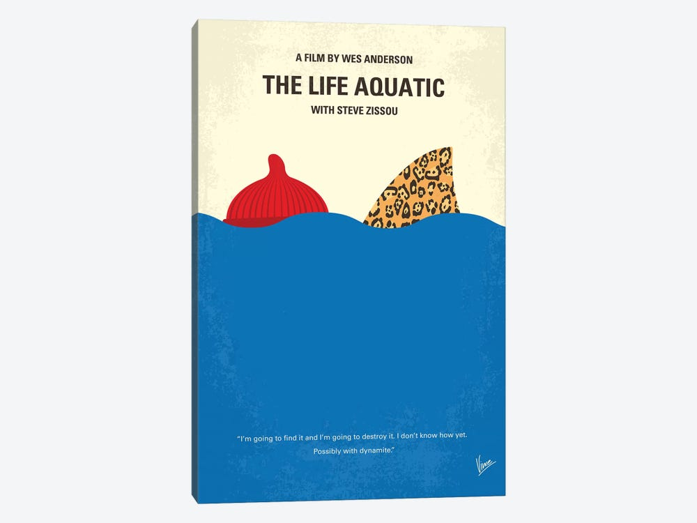 The Life Aquatic With Steve Zissou Minimal Movie Poster by Chungkong 1-piece Canvas Print