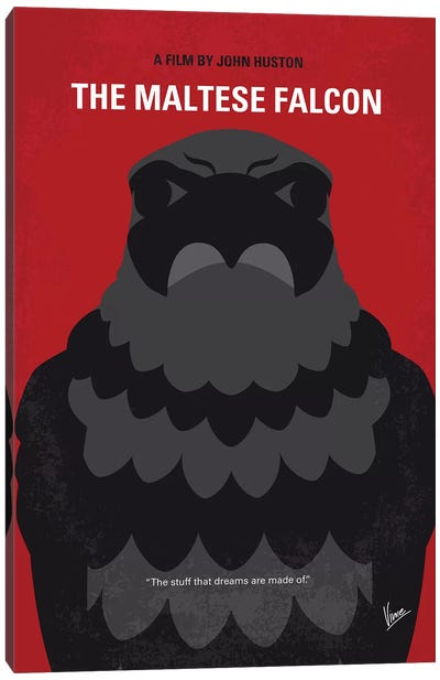 The Maltese Falcon Minimal Movie Poster Canvas Art Print