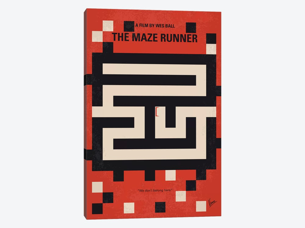 The Maze Runner Minimal Movie Poster by Chungkong 1-piece Canvas Print