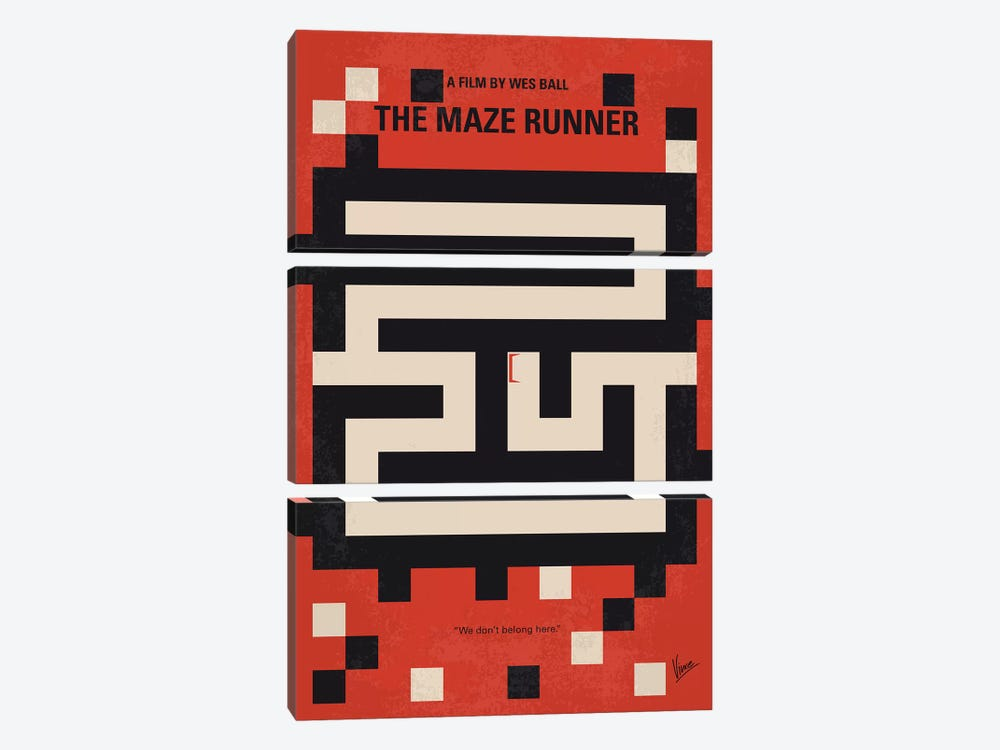 The Maze Runner Minimal Movie Poster by Chungkong 3-piece Canvas Print