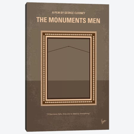 The Monuments Men Minimal Movie Poster Canvas Print #CKG1065} by Chungkong Art Print