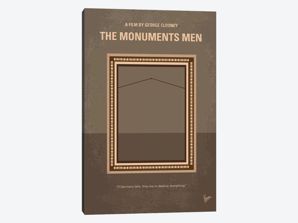 The Monuments Men Minimal Movie Poster by Chungkong 1-piece Canvas Artwork