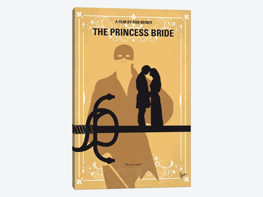 The Princess Bride Minimal Movie Poster by Chungkong 1-piece Canvas Art