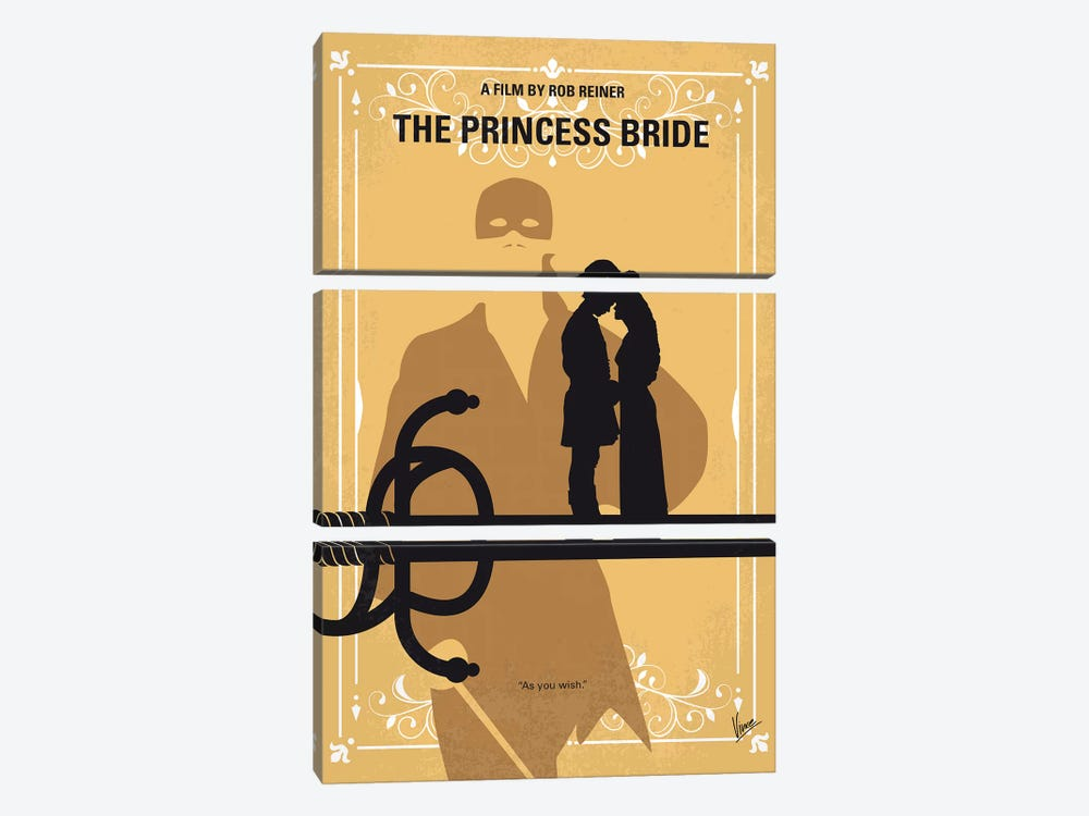 The Princess Bride Minimal Movie Poster by Chungkong 3-piece Canvas Art
