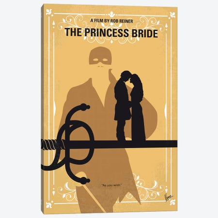 The Princess Bride Minimal Movie Poster Canvas Print #CKG1067} by Chungkong Canvas Art Print