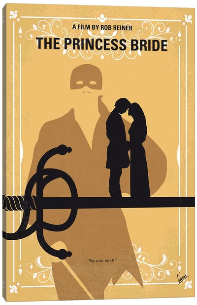 The Princess Bride Minimal Movie Poster Canvas Art Print