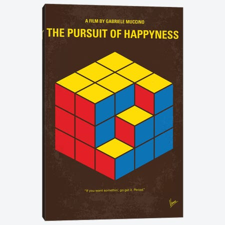 The Pursuit Of Happyness Minimal Movie Poster Canvas Print #CKG1068} by Chungkong Canvas Artwork