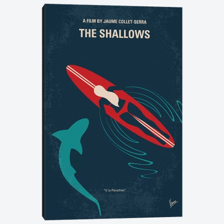 The Shallows Minimal Movie Poster Canvas Print #CKG1070} by Chungkong Art Print