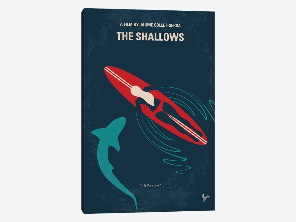 The Shallows Minimal Movie Poster by Chungkong 1-piece Canvas Wall Art