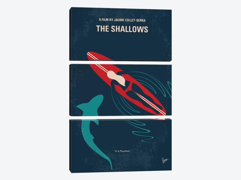 The Shallows Minimal Movie Poster by Chungkong 3-piece Canvas Wall Art