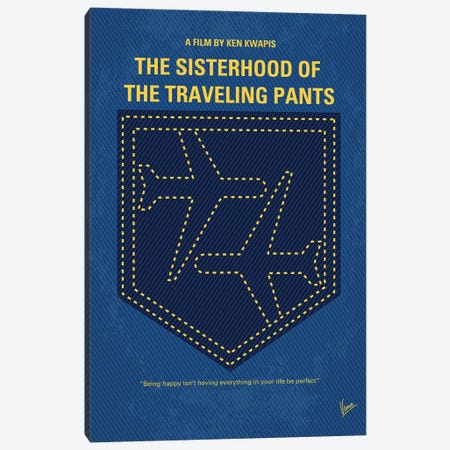 The Sisterhood Of The Traveling Pants Minimal Movie Poster Canvas Print #CKG1071} by Chungkong Canvas Art Print