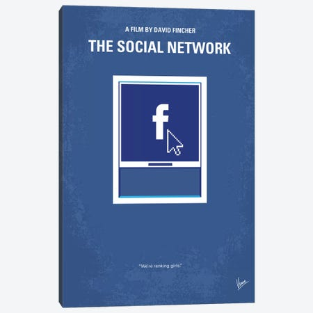 The Social Network Minimal Movie Poster Canvas Print #CKG1072} by Chungkong Canvas Print