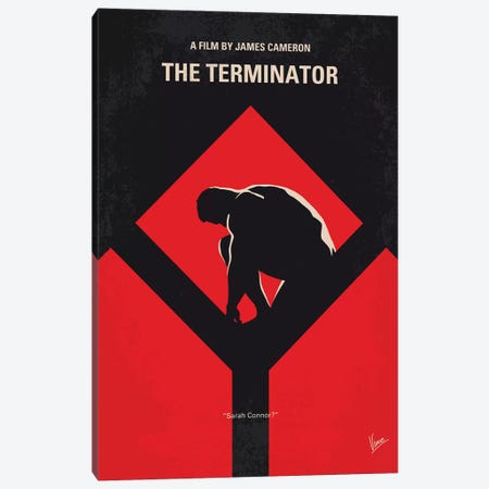 The Terminator Minimal Movie Poster Canvas Print #CKG1073} by Chungkong Canvas Print