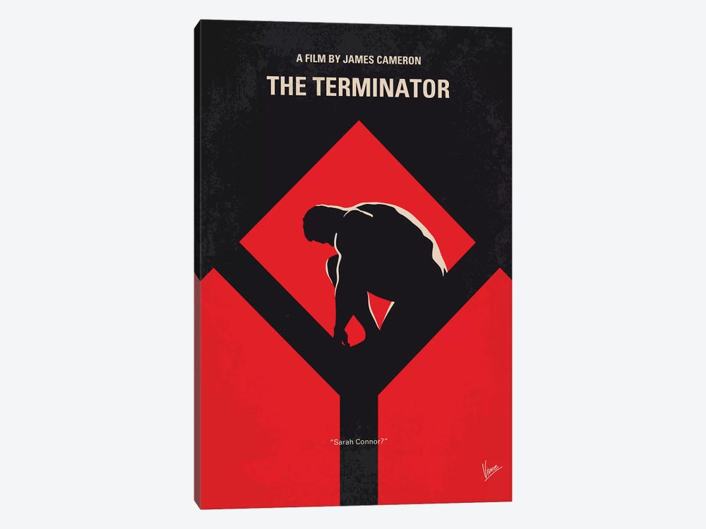 The Terminator Minimal Movie Poster by Chungkong 1-piece Art Print