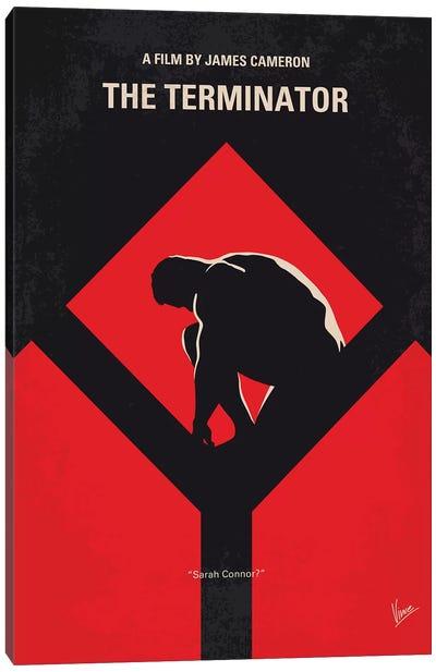 The Terminator Minimal Movie Poster Canvas Art Print