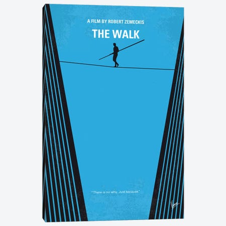 The Walk Minimal Movie Poster Canvas Print #CKG1074} by Chungkong Canvas Wall Art