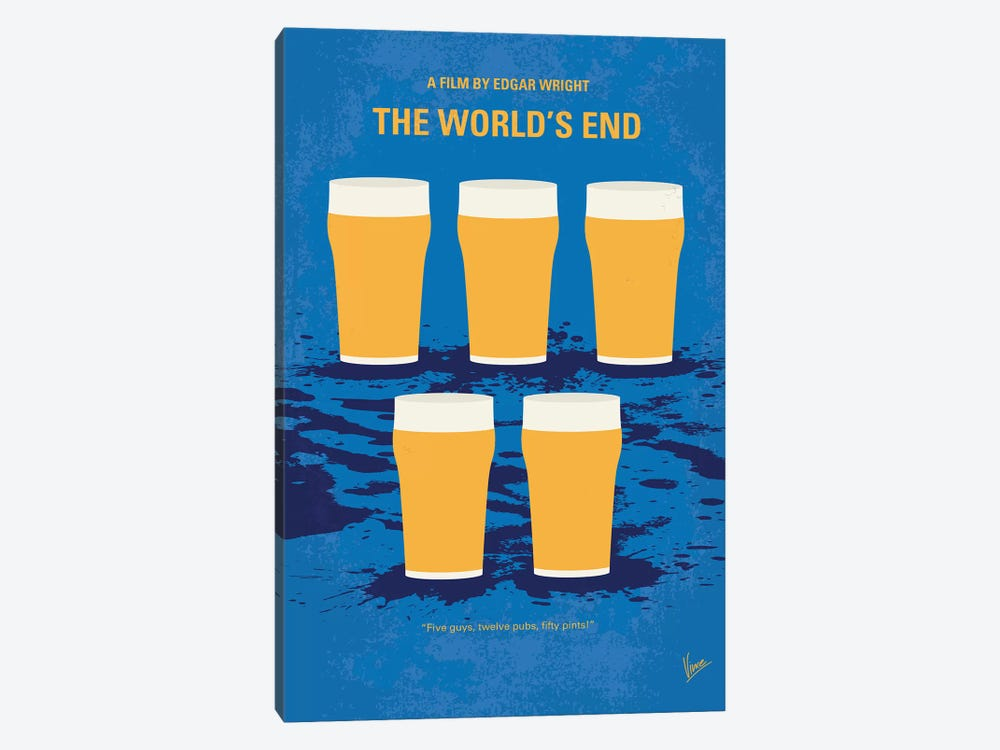 The World's End Minimal Movie Poster by Chungkong 1-piece Canvas Art Print